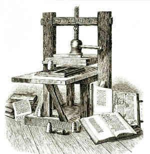 Johannes Gutenberg'in baskı makinesi. Fotoğraf:www.bilim-teknoloji.com
