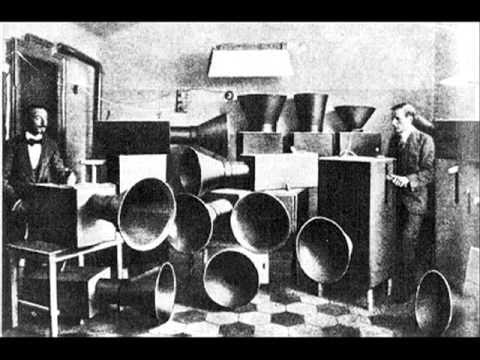 Luigi Russolo, Corale Classic Industrial Noise Experimental Music, 1921. Russolo'nun deneysel müziğini dinlemek isteyenler aşağıdaki adresi kullanabilir. Fotoğraf:www.youtube.com