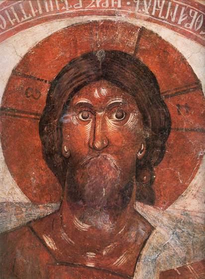 Pantokrator İsa, Yunan Theofan, 1378. The Church of Transfiguration, kubbe, Novgorod. Fotoğraf:www.varvar.ru