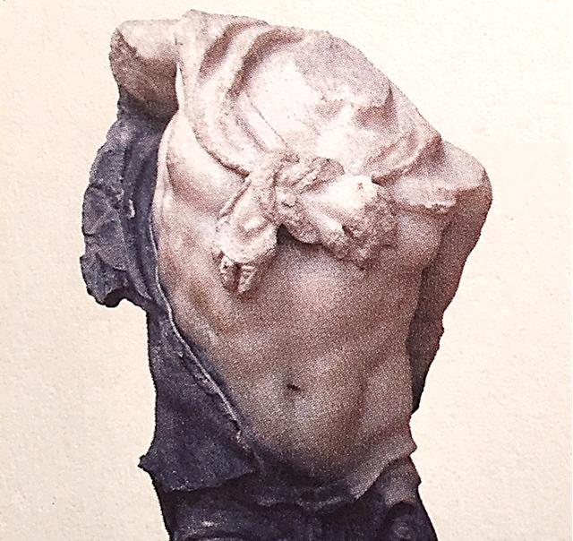 Lausos Sarayı heykellerinden Triton heykelciği. Fotoğraf: İstanbul'un 100 Roma, Bizans Eseri, Kültür A.Ş. Yayınları