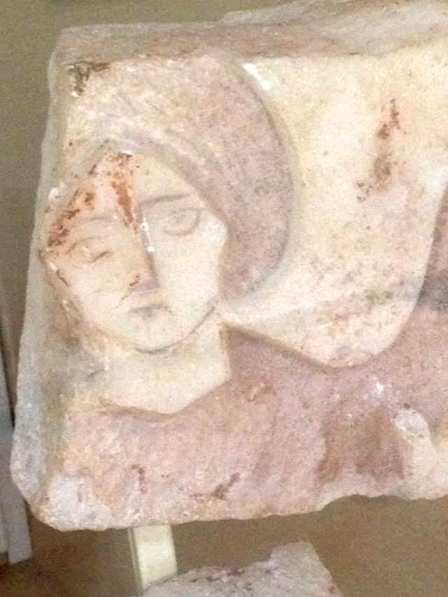 Boukoleon Saray kompleksinden melek figürlü mermer parça. İstanbul Arkeoloji Müzeleri. Fotoğraf: Füsun Kavrakoğlu