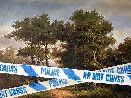 Banksy'nin Tate Britain'e izinsiz, gizlice astığı eseri. Hala asılı duruyor. Fotoğraf: gazette.athabascau.ca
