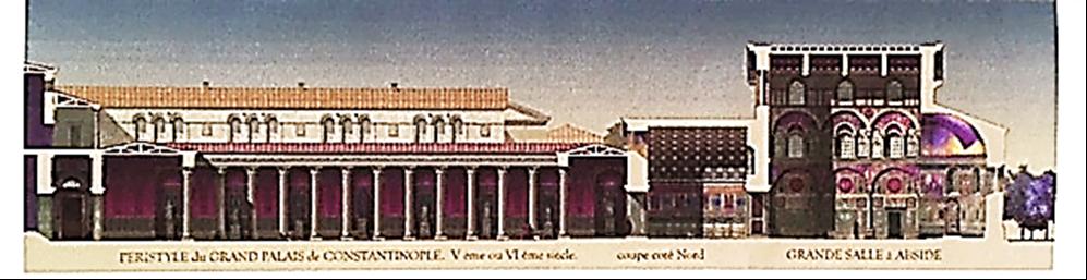 Antoine Helbert tarafından yapılmış Büyük Saray rekonstitüsyon çalışmaları. Fotoğraf:www.antoine-helbert.com/.../byzance-scenes.