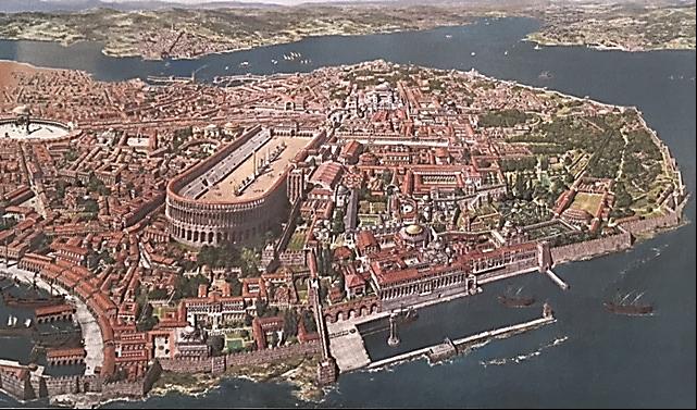 Konstantinopolis'e Antoine Helbert'in gözü ile bakış. Fotoğraf:www.antoine-helbert.com/.../byzance-scenes.