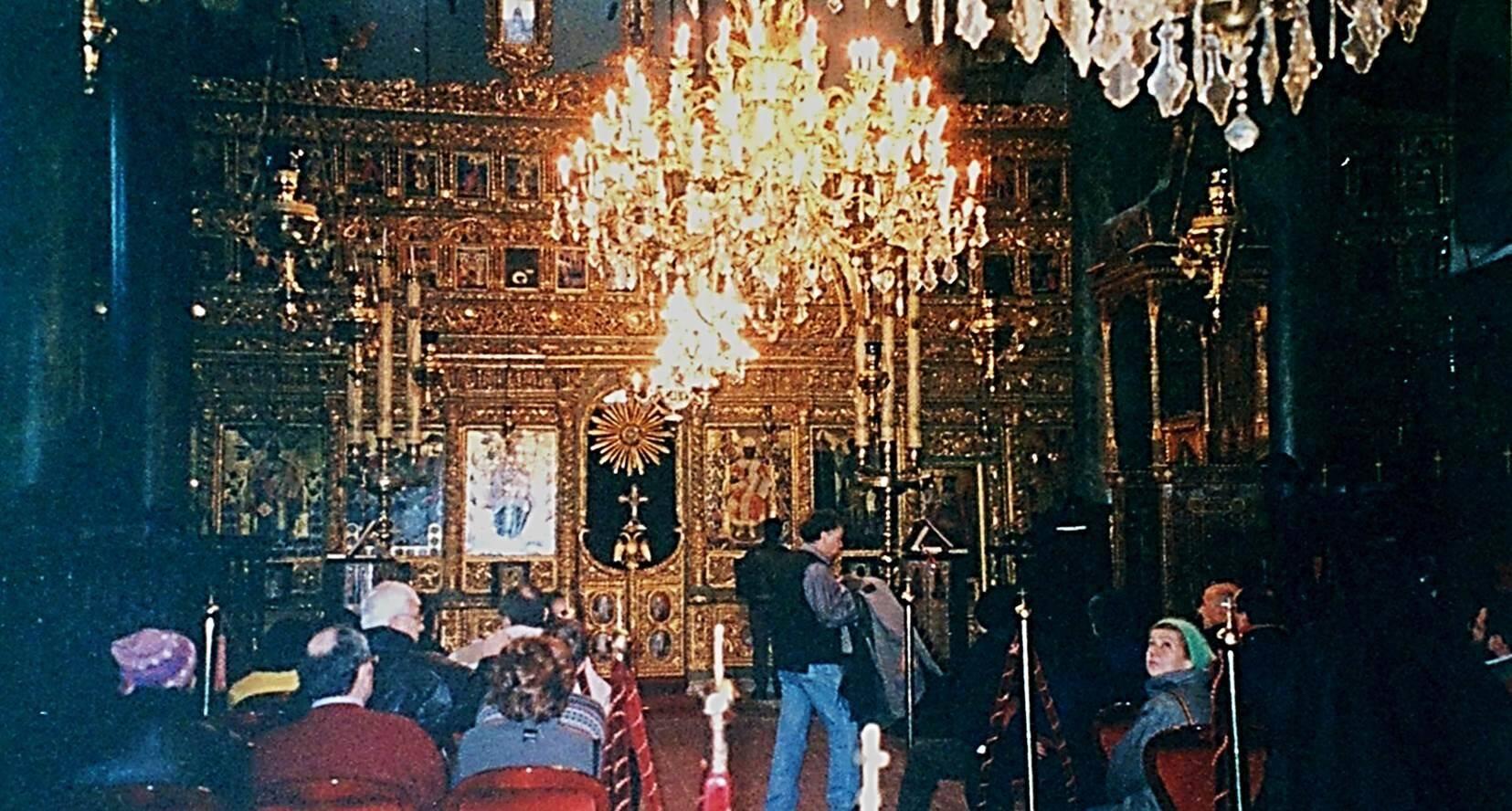Ayios Yeoryios, Aziz Georgios Kilisesi'nin içinden. Fotoğraf: Füsun Kavrakoğlu