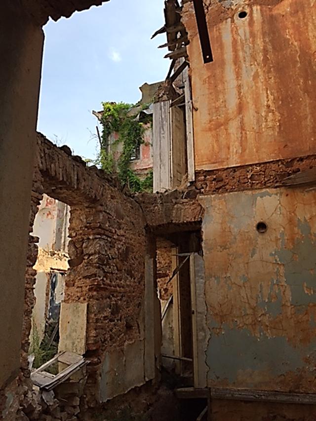 Yanaros Köşkü, günümüzde özel mülktür, ne yazık ki, bugün bir izbeyi andırmaktadır. Çatısı ve bazı duvarları yoktur; burada bir zamanlar Troçki'nin yaşadığına dair hiçbir bilgi, plaket konulmamıştır. Fotoğraf: Füsun Kavrakoğlu