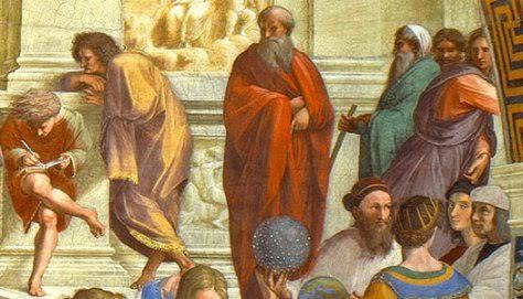 Raphael'in 1509 tarihli Atina Okulu adlı tablosunda Plotinus (detay). Fotoğraf: gbwwblog.wordpress.com