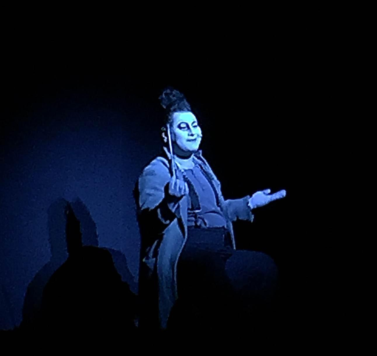 Bu güne kadar pek çok yazar ve müzisyenle işbirliği yapmış olan, Üç Kuruşluk Opera'nın yönetmeni Robert Wilson, oyunun aynı zamanda sahne ve ışık tasarımının da yaratıcısıydı. Her bir sahne, şahane bir tablo gibiydi. Pek çok ödülü ve nişanı olan Wilson'ın diğer ilgi alanları ise resim ve heykel sanatı. Wilson'un tüm işleri dansı, hareketi, ışığı, metni, tasarımı birbiri içine geçirerek bir bütün oluşturur, deniyor. Fotoğraf: Füsun Kavrakoğlu