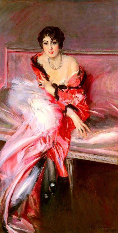 Kırmızılar İçinde Madame Juillard'ın Portresi, Giovanni Boldini (1842-1931). Fotoğraf:stlukesguild.tumblr.com