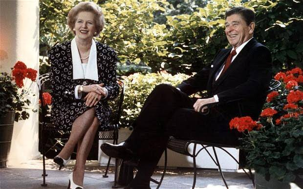 Margaret Thatcher ve Ronald Reagan. Fotoğraf:www.telegraph.co.uk