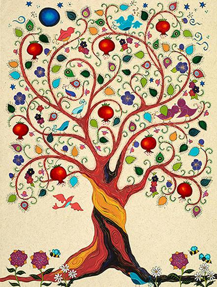 Nar Ağacı, Karla Gudeon. Fotoğraf: www.covegallery.com
