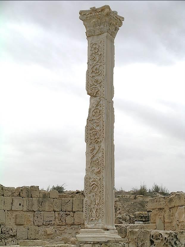 375 yılı yapımı bazilikadan ayakta kalan bir sütun. Fotoğraf: Füsun Kavrakoğlu