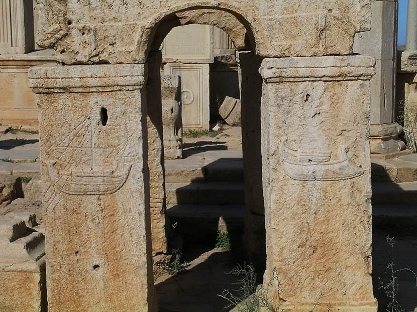 Leptis Magna'nın pazar yerinden detay. Fotoğraf: Füsun Kavrakoğlu