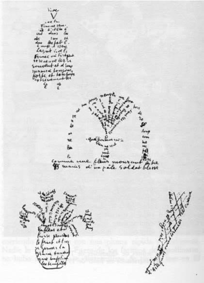 Guillaume Apollinaire'den (1880-1918) bir deneme. Fotoğraf:www.siirakademisi.com
