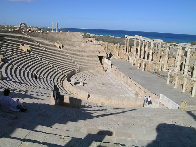 Leptis Magna'nın tiyatrosu. Fotoğraf: Füsun Kavrakoğlu