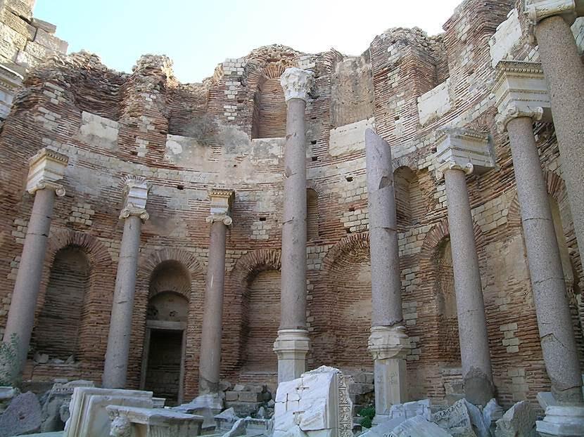 Septimus Severus Bazilikası, 6. yüzyılda Justinyen döneminde kiliseye çevrilmiş. Fotoğraf: Füsun Kavrakoğlu