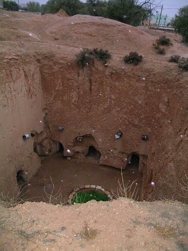 Tüften oyma yeraltı evi. Fotoğraf: Füsun Kavrakoğlu