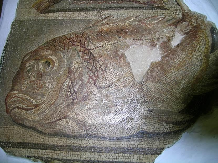Müzedeki mozaiklerden iki örnek paylaşıyoruz. Fotoğraf: Füsun Kavrakoğlu
