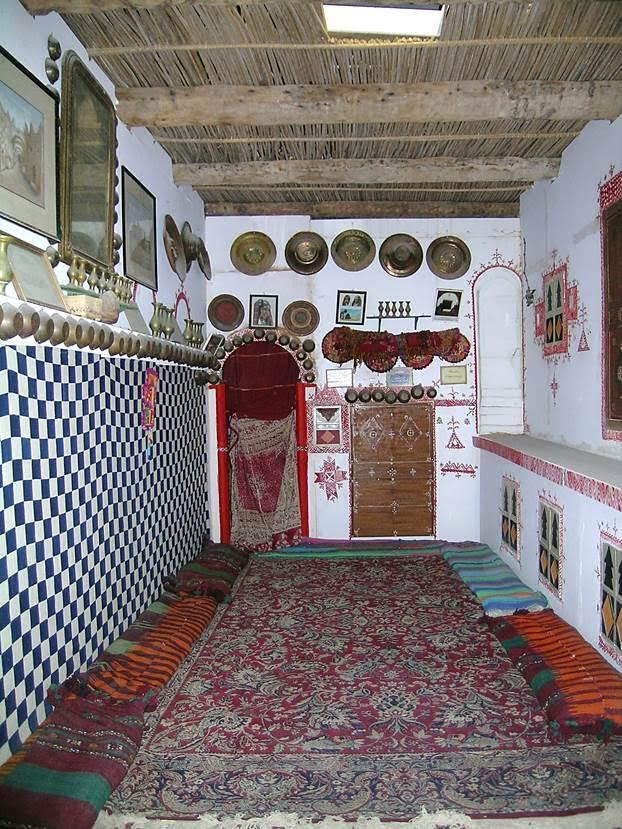 Trablus'ta, Cemahiriye Müzesi'nde bir Gıdamis evi rekonstrüksiyonu vardı. Bence evi epey sade tutmuşlar. Fotoğraf: Füsun Kavrakoğlu