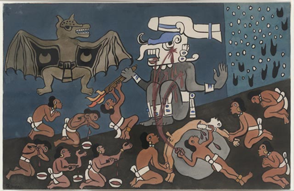 Aztekler, tanrıları ve kurbanları. Fotoğraf: Forum - Edebiyat, Eğitim, Genel Kültür Forumu.