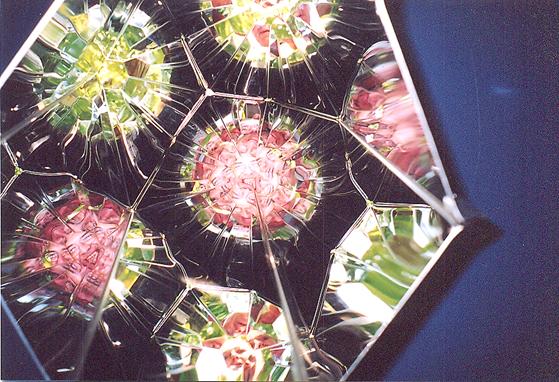 1967, Kopenhag doğumlu Danimarka-İzlandalı sanatçı Olafur Eliasson; ışık, ısı, basınç ve su kullanarak yarattığı dev yerleştirmeleri, optik oyunlarla kurguladığı etkileşimli eserleri, doğayı ve doğa olaylarını taklit ettiği çalışmaları ve tematik fotoğraf serileri ile tanınıyor. Eliasson, sık sık ünlü mimarlarla ortak çalışmalara da imza atıyor. Londra'daki Tate Modern'in içine yerleştirdiği güneş (Hava Projesi, 2003), Brooklyn Köprüsü'ne yaptığı şelale ya da Aarhus'taki ARoS'un çatısına yerleştirdiği gökkuşağı eserlerinden bazıları. Hava Projesi'nde, tek frekanslı ışınım yapan yüzden fazla sayıda renkli ampulle üretilen Yerleştirme, ayna ile kaplı tavana yansıyor ve güneş gibi görüntü yaratıyordu.  2003 Venedik Bienali'nde Danimarka pavyonunda sanatçının aynalarla yarattığı eserine bakan kişi parçalı görüntüsünü izlerken platformun üzerindeki dalların ve yaprakların rüzgarla hareket etmesinin görüntüsü de eseri tamamlıyordu. Sanatçının Yerleştirmelerine, nesnelerine ve imgelerine bakınca doğanın sihrini sanatın hizmetine sunuyormuş gibi görünüyor. Fotoğraf: Füsun Kavrakoğlu