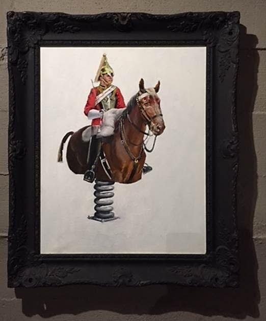 Sprung Horse, Banksy, 2006. Global Karaköy sergisinden, 2016. Fotoğraf: Füsun Kavrakoğlu