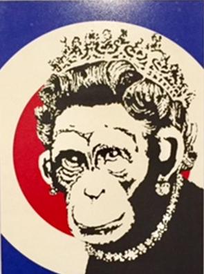 Monkey Queen, Banksy, 2003. Global Karaköy sergisi, 2016. Fotoğraf: Füsun Kavrakoğlu