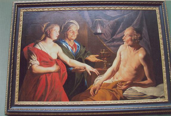 Sara Hacer'i İbrahim'e Takdim Ediyor, Matthias Stom, 1637 – 1639. Gemaldegalerie, Berlin, Almanya. Fotoğraf: Füsun Kavrakoğlu