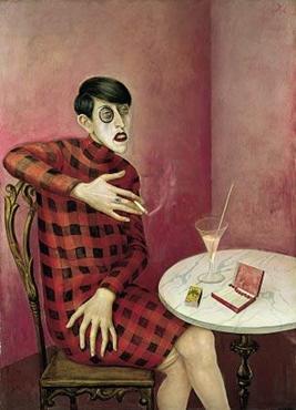Gazeteci Sylvia Harden'in Portresi, Otto Dix, 1926. Kendisine aristokrasiyi çağrıştıran yeni bir isim seçen; Yeni Almanya için makaleler yazan; gözünde monoklü, elinde sigarası, kısa saç kesimi, önünde içkisi ile Yeni Kadın'ı temsil eden bir kişinin portresini görüyoruz. Yeni Objektif akımı sanatçıları Gerçekçilik'e sinik, sosyal eleştiri getiren felsefi bir yön kattı. Modernliğe olumsuz yaklaşanlar için, 1920'lerin eşit haklara sahip, yüksek topuklu, ruj sürülmüş dudakları arasına sigarasını iliştirmiş kadınlardan daha tehlikeli hiçbir şey olamazdı. Modern bir kadın, ailenin çökmesine neden olurdu. Çocuk doğurmamak, doğaya ihanetti. Otto Dix de inadına bu kadınların en göze batanını resmetti. Fotoğraf: en.wikipedia.org