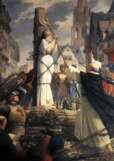 Orleans Bakiresi Azize Jeanne d'Arc'ın Ölümü, Jules Leneupveu, 1886-1890. Fotoğraf:www.stejeannedarc.net