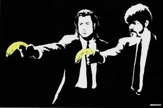 Pulp Fiction filmine Banksy'nin bakışı. Fotoğraf: www.nellyduff.com
