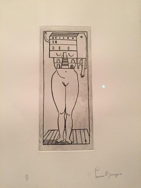 Kadın Ev, Louise Bourgeois, 1990. Fotoğraf: Füsun Kavrakoğlu, 15. istanbul Bienali, Pera Müzesi, 2017.