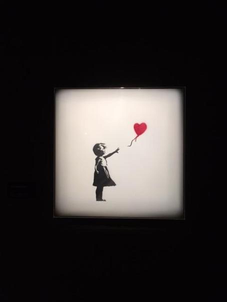 Kız ve Balon, Banksy, 2003. Global Karaköy, 2016. Fotoğraf: Füsun Kavrakoğlu