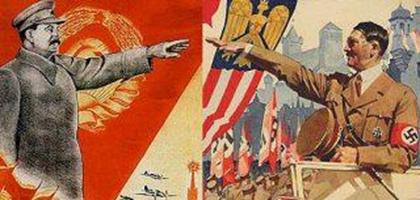 Nasyonalizmin dönemin ruhu olduğu; Nazi ve Stalin yönetimlerinin aynı varlığın, parti devletinin biçimi oldukları söylenir. Hitler milyonlarca Yahudiyi sistematik bir şekilde yok etti. Stalin döneminde on milyonu İkinci Dünya Savaşı'nda olmak üzere toplam 40 milyon kişi öldü. Bu döneme Büyük Terör dendi. Fotoğraf: kitap alıntılarım - WordPress.com