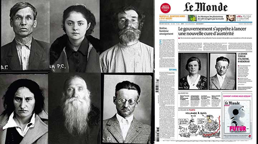 Büyük Temizlik kurbanları. Stalin, 1929-1933 arasında zorunlu kolektifleştirme, kıtlık, açlık nedeniyle milyonları; 1937 yılında başlattığı siyasi temizlik ile nicelerini öldürttü. 1930-1953 arasında SSCB'de Halk Düşmanı suçlamasıyla 786 bin kişi idam edildi; 3.800 bin kişi devlete karşı suç işlemekten hüküm giydi. Glasnost sonrası bu davalardan 850 bin tanesine yeniden bakıldı; sadece 12 bin davanın neticesi haklı bulundu. Fotoğraf: Akşam