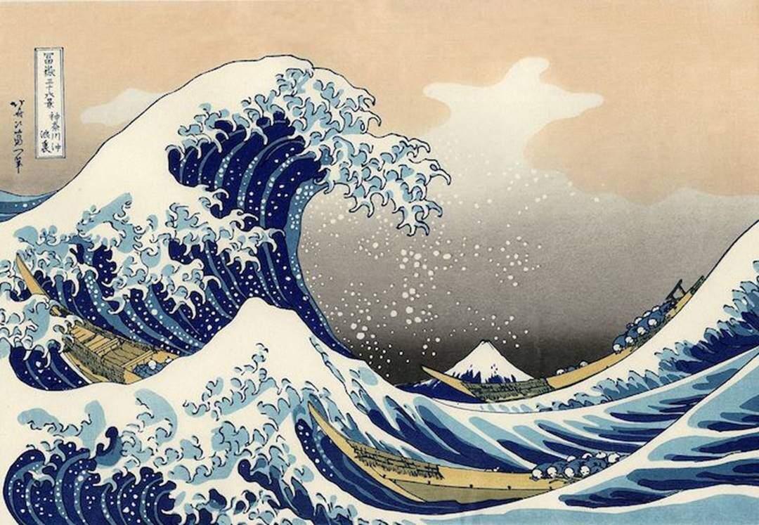 Büyük Dalga, Katsushika Hokusai (1760-1849). Fotoğraf: Kitaplık Kedisi.
