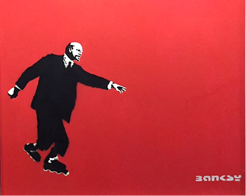 Kızıl Lenin, Banksy, 2003. Fotoğraf: Füsun Kavrakoğlu, Global Karaköy, 2016.