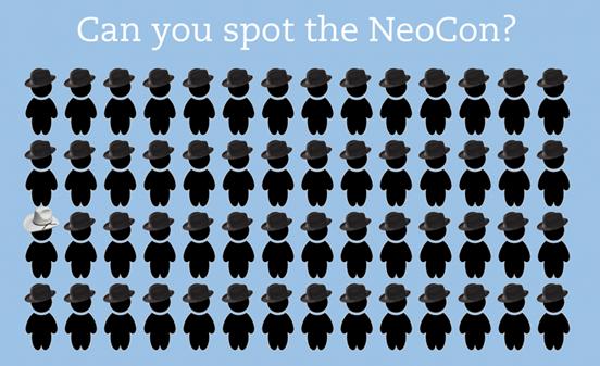 Neo-con'u bulabilir misiniz?  Bu kadar azlar mı? Fotoğraf: TheBlogMire