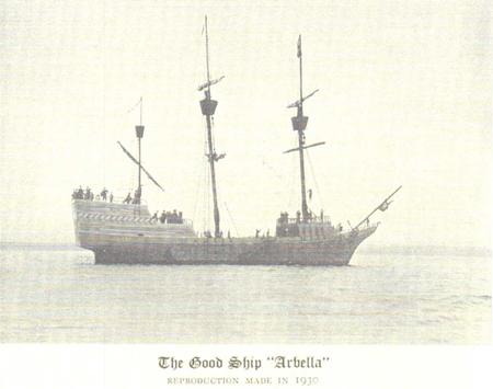 1930 yılında John Winthrop ve beraberindekilerin ABD'ye, Salem, Massachusetts'e varışlarının 300. yılı şerefine onları getiren geminin, Arbella'nın bire bir kopyası inşa edilmişti. Fotoğraf: Bigelow Society