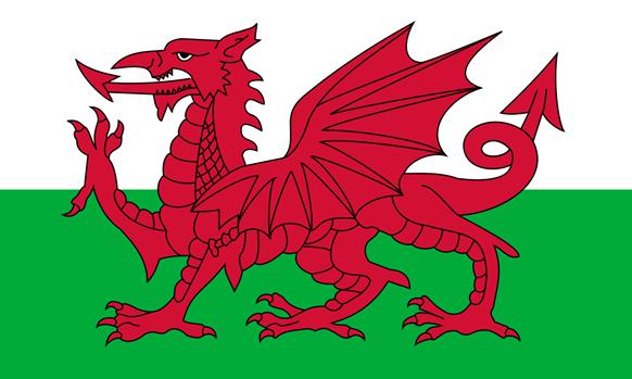 Galler'in simgesi kırmızı ejderha. Fotoğraf: Vikipedi