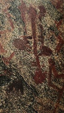 Anneliese Peschlow-Bindokat kitabında yukarıdaki fotoğrafta görülen betimlemeyi natüralist, aşağıdaki fotoğrafta görüleni ise şematik üsluba örnek olarak vermiştir. Fotoğraflar: Tarihöncesi İnsan Resimleri, Anneliese Peschlow-Bindokat, Sadberk Hanım Müzesi, 2006.