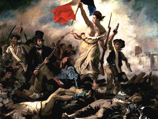 Eugéne Delacroix'nın Fransız Devrimi ile özdeşleşen Halka Yol Gösteren Özgürlük (1830) adlı göğüsleri açık kadın figürü bulunan tablosu 2006 yılında Milli Eğitim Bakanlığı Talim ve Terbiye Kurulu Başkanlığı kararıyla ders kitaplarından çıkartılmıştır. Fotoğraf: venturebeat.com